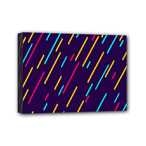 Background Lines Forms Mini Canvas 7  x 5