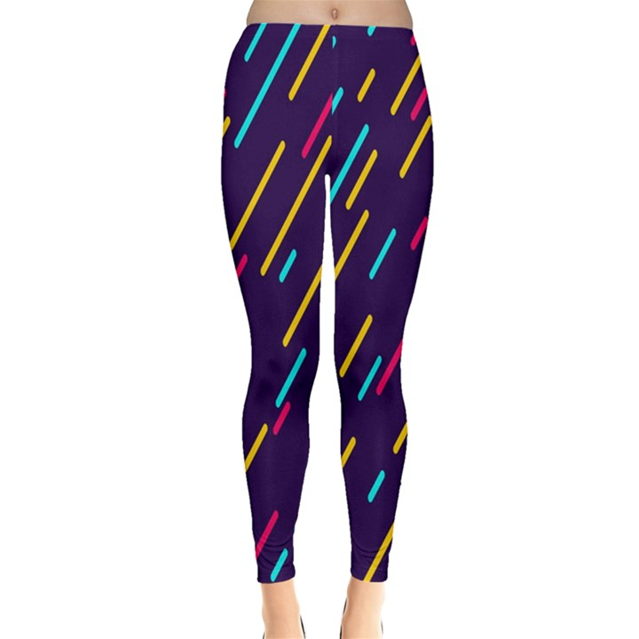Background Lines Forms Leggings