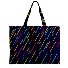 Background Lines Forms Zipper Mini Tote Bag