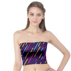 Background Lines Forms Tube Top