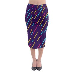 Background Lines Forms Midi Pencil Skirt