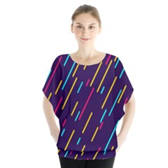 Background Lines Forms Blouse