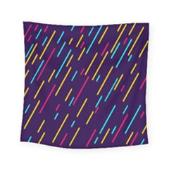 Background Lines Forms Square Tapestry (small)
