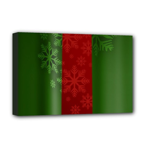 Background Christmas Deluxe Canvas 18  x 12