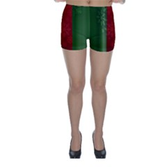 Background Christmas Skinny Shorts