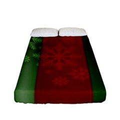 Background Christmas Fitted Sheet (full/ Double Size)