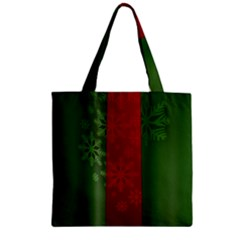 Background Christmas Zipper Grocery Tote Bag