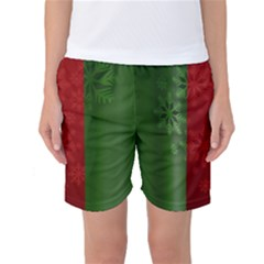 Background Christmas Women s Basketball Shorts