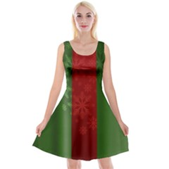Background Christmas Reversible Velvet Sleeveless Dress