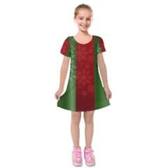 Background Christmas Kids  Short Sleeve Velvet Dress