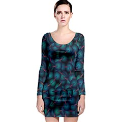 Background Abstract Textile Design Long Sleeve Bodycon Dress