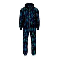 Background Abstract Textile Design Hooded Jumpsuit (Kids)