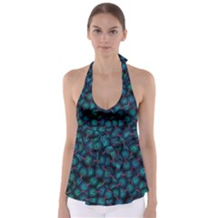 Background Abstract Textile Design Babydoll Tankini Top