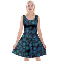 Background Abstract Textile Design Reversible Velvet Sleeveless Dress