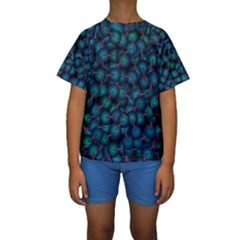 Background Abstract Textile Design Kids  Short Sleeve Swimwear