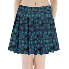 Background Abstract Textile Design Pleated Mini Skirt