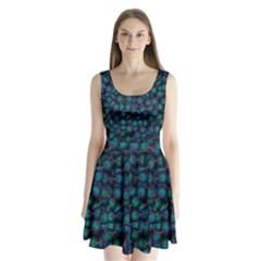 Background Abstract Textile Design Split Back Mini Dress
