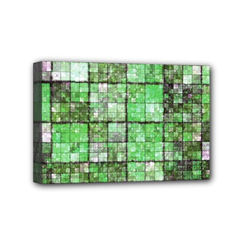 Background Of Green Squares Mini Canvas 6  x 4
