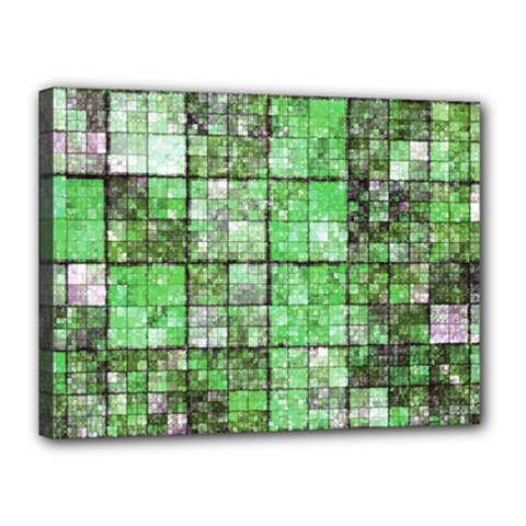 Background Of Green Squares Canvas 16  x 12