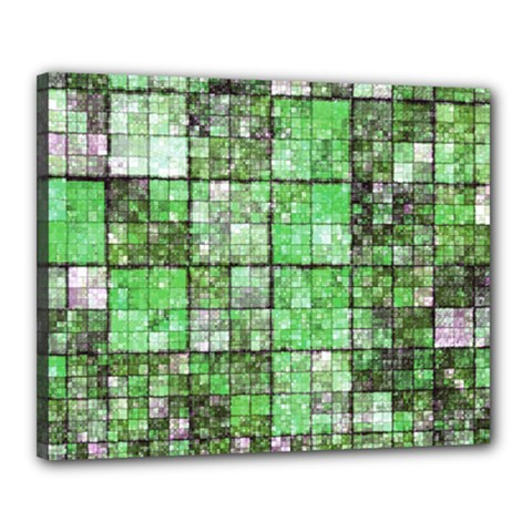 Background Of Green Squares Canvas 20  x 16
