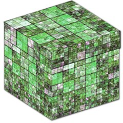 Background Of Green Squares Storage Stool 12