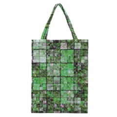 Background Of Green Squares Classic Tote Bag