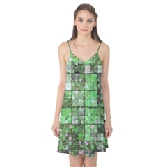 Background Of Green Squares Camis Nightgown