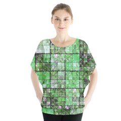 Background Of Green Squares Blouse