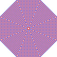 Blue Red Checkered Straight Umbrellas