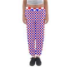 Blue Red Checkered Women s Jogger Sweatpants