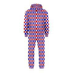 Blue Red Checkered Hooded Jumpsuit (Kids)