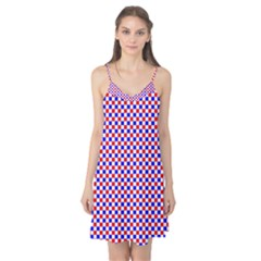 Blue Red Checkered Camis Nightgown