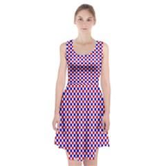 Blue Red Checkered Racerback Midi Dress