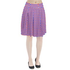 Blue Red Checkered Pleated Skirt