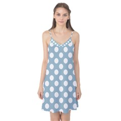 Blue Polkadot Background Camis Nightgown