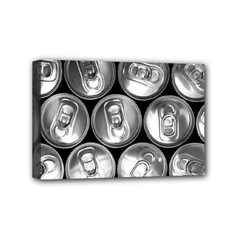 Black And White Doses Cans Fuzzy Drinks Mini Canvas 6  x 4