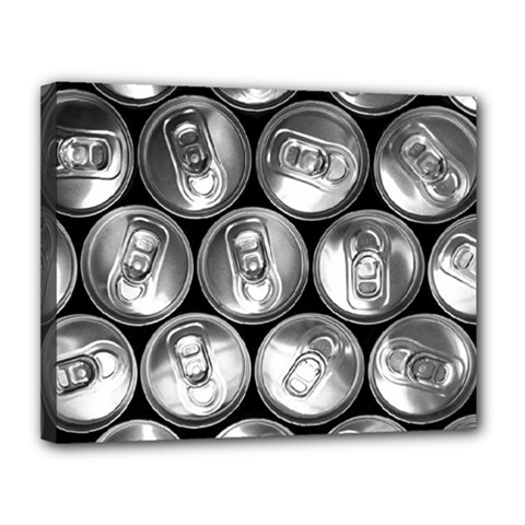 Black And White Doses Cans Fuzzy Drinks Canvas 14  x 11