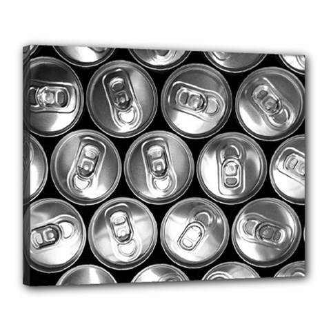 Black And White Doses Cans Fuzzy Drinks Canvas 20  x 16