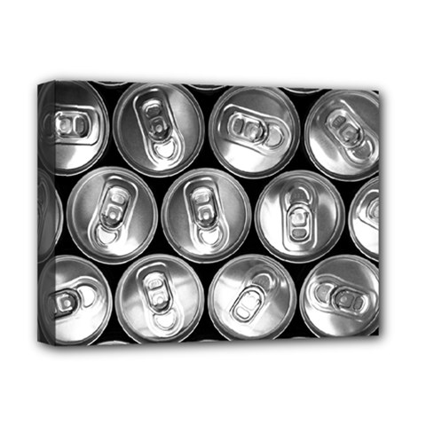 Black And White Doses Cans Fuzzy Drinks Deluxe Canvas 16  x 12