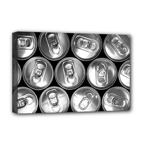 Black And White Doses Cans Fuzzy Drinks Deluxe Canvas 18  x 12
