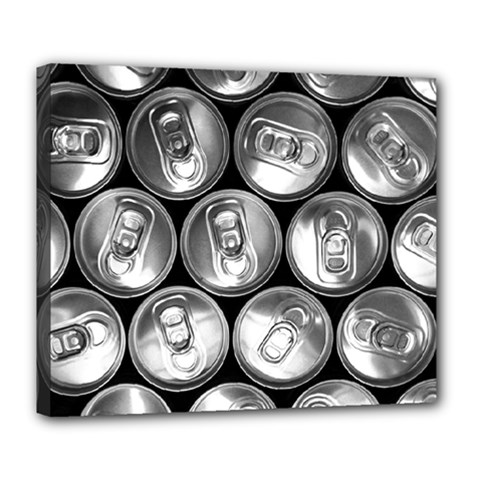 Black And White Doses Cans Fuzzy Drinks Deluxe Canvas 24  x 20