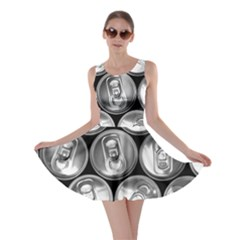 Black And White Doses Cans Fuzzy Drinks Skater Dress