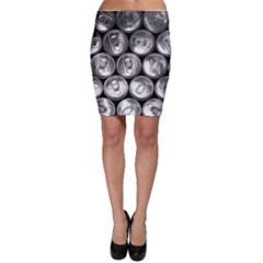 Black And White Doses Cans Fuzzy Drinks Bodycon Skirt
