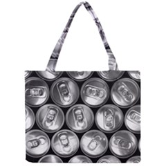 Black And White Doses Cans Fuzzy Drinks Mini Tote Bag