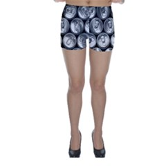 Black And White Doses Cans Fuzzy Drinks Skinny Shorts