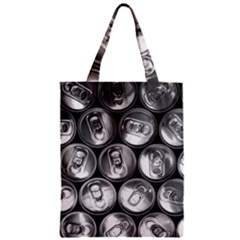 Black And White Doses Cans Fuzzy Drinks Zipper Classic Tote Bag