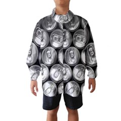Black And White Doses Cans Fuzzy Drinks Wind Breaker (Kids)