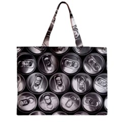Black And White Doses Cans Fuzzy Drinks Medium Tote Bag