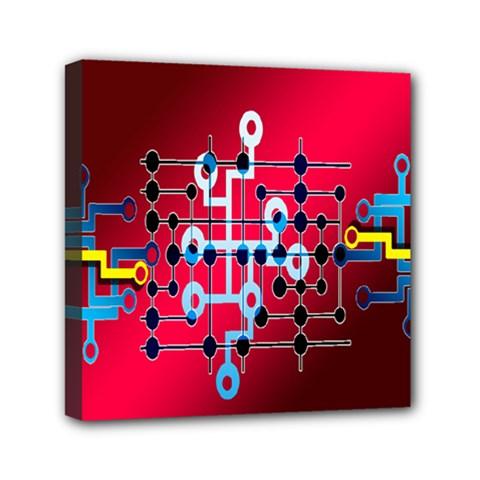 Board Circuits Trace Control Center Mini Canvas 6  x 6