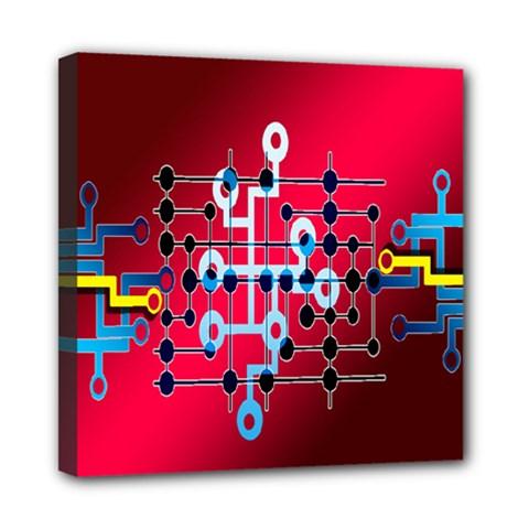Board Circuits Trace Control Center Mini Canvas 8  x 8